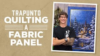 Download Trapunto Quilting on a Fabric Panel Video