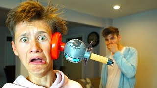 Download REAL LIFE FORTNITE CLINGER PRANK ON MY LITTLE BROTHER! FORTNITE IN REAL LIFE Video