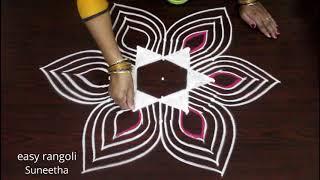 Download Margazhi kolam designs for 5x3 dots || Dhanurmasam muggulu Video