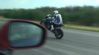Download BMW S1000RR (one wheel) vs Nissan GT-R w/ ECU (Jury) from summer of 2011 2nd of July Video