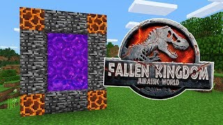 Download How To Make a PORTAL to the JURASSIC WORLD FALLEN KINGDOM Dimension in Minecraft PE Video