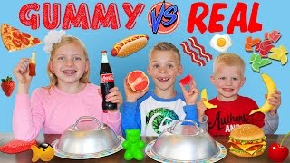 Download Gummy Food vs. Real Food Challenge Video
