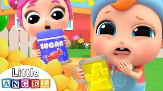 Download Baby's First Lemonade | Lemonade Stand Song | Little Angel Kids Song Video