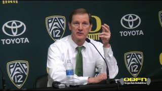 Download POST GAME: Oregon Head Coach Dana Altman Talks 23 Point Win Over Cal Video