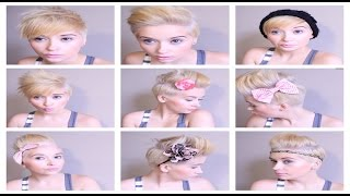 Download HAIR Tutorial: How To ROCK 6 Different Pixie Styles Video