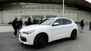 Download Miguen Ángel Moyá recibe su Alfa Romeo en el Wanda Metropolitano Video