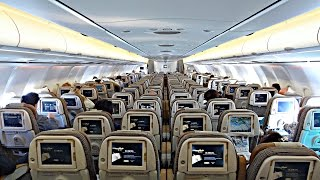 Download TRIP REPORT | Etihad Airways (Economy) | Airbus A340-600 | Munich - Abu Dhabi | ✈ Video