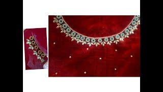 Download ఆరి మగ్గం వర్క్ మామూలు సూదితో ఎలా చేయాలి?Aari, maggam work blouse with normal hemming needle Video