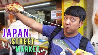Download Japan STREET FOOD TOUR of Ameyoko Market in Tokyo Japan Video