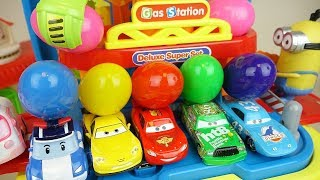 Download Cars and Poli car toys station surprise eggs play Video