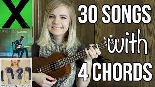 Download 4 basic chords, 30 songs on ukulele Video