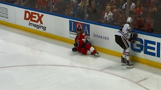 Download Panik lays out Jagr with big hip check Video