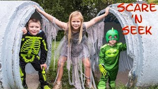 Download PJ MASKS Assistant and Ryan Batboy Play Scare n Seek Spooky Halloween Game Video