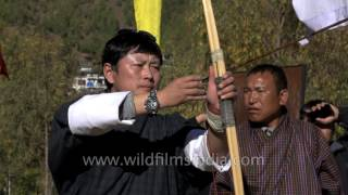 Download Archery session of Bhutanese captured in slow motion Video