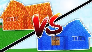 Download WATER HOUSE VS LAVA HOUSE - MINECRAFT Video