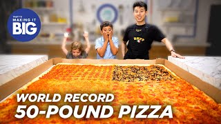 Download I Made A Giant 50-Pound Pizza For Two Little Kids • Tasty Video