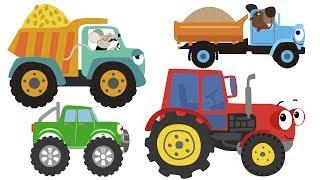 Download СБОРНИК из 9 ПЕСЕН МУЛЬТИКОВ - Машинки Бип-Бип Трактор Медведь Светофор Самолет для детей малышей Video