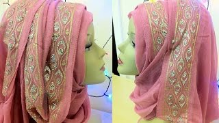 Download Fancy bordered hijab style || By Shum Stuff Video