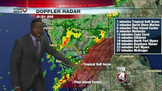 Download Strong line of storms moving through SWFL Video
