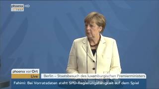 Download Staatsbesuch: Statements von Merkel und Bettel am 16.06.2015 Video