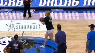 Download Mavs Fan SPLASHES Amazing Half Court Shot | April 07, 2017 Video