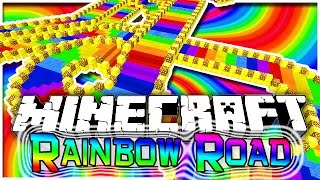 Download Minecraft: EXTREME Rainbow Road Parkour 2! Fun Challenging Parkour Mini-Game! Video