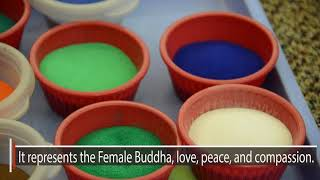 Download Tibetan Monks spread a message of peace and love with sand mandala Video