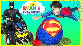Download Ryan opens Giant Superman Surprise Egg Video