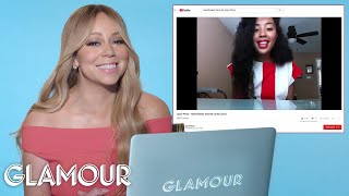 Download Mariah Carey Watches Fan Covers On YouTube | Glamour Video
