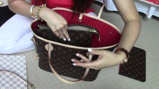 Download Louis Vuitton Neverfull MM/ Organizer, base shaper, etc...answered Video