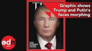 Download Graphic shows Trump and Putin's faces morphing together Video
