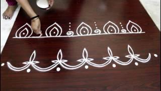 Download border designs- free hand rangoli Video