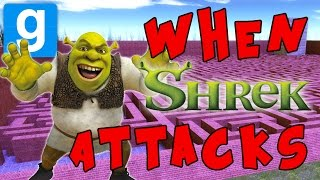 Download SHREK ATTACKS!!! | Gmod Maze Minigame | Shreknado Ruckus!!! Video