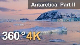 Download 360°, Antarctica. Part II. 4K aerial video Video