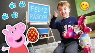 Download CAÇA AOS OVOS DE PÁSCOA EM CASA!! Ovo da Peppa Pig e Patrulha Canina com Brinquedos de Surpresa  Video