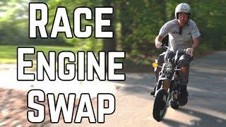 Download Double Displacement Mini Bike Swap! | Honda CT70 140cc Swap Video