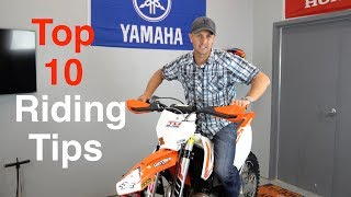 Download Top 10 Dirt Bike Riding Tips for Offroad and Enduro Dirt Bikes - Stop Sucking! Video