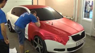 Download Wrap Job TeckWrap Red Matte Metallic Full Wrap by Vinil Masters Russia Video