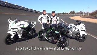 Download Road to 400km/h. Kawasaki Ninja H2R Maximum Speed Test. Video