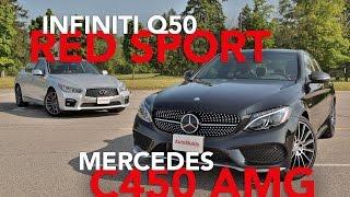 Download 2016 Infiniti Q50 Red Sport 400 vs 2016 Mercedes-Benz C450 AMG Video