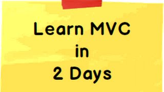 Download Learn ASP MVC 5 ( Model view controller) step by step in 2 days ( 16 hours) Video