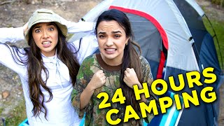Download 24 Hour Overnight Camping Challenge in Our Back Yard - Merrell Twins Video