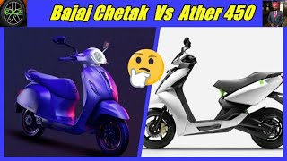 Download Bajaj chetak Vs Ather 450// Compare Chetak with Ather 450. Video