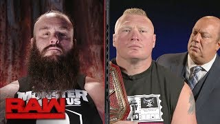 Download Michael Cole conducts a tense interview with Brock Lesnar and Braun Strowman: Raw, Sept. 18, 2017 Video