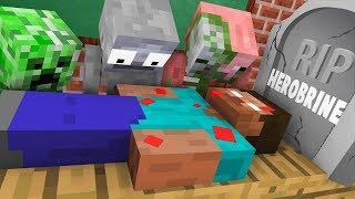 Download Monster School : RIP Herobrine Challenge - Minecraft Animation Video