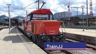 Download SBB Ee 922 016 Stadler Rangierlokomotive + InterRegio wagons | Bahnhof Basel SBB|Shunting locomotive Video