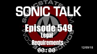 Download Sonic TALK 549 - Legal Requirements Video