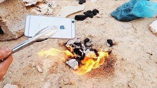 Download وش يصير اذا حطيت جوال في النار !! (انفجر) Video