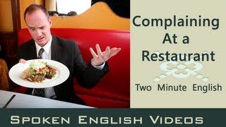 Download Complaining at a Restaurant - Food English Conversation - English lesson about food Video