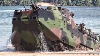 Download Marines Practice Beach Landing In Amphibious Assault Vehicles Video